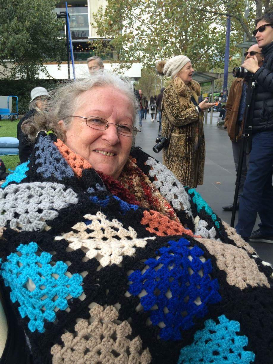Photograph of Julia Browell at Melbourne's Millions Missing protest